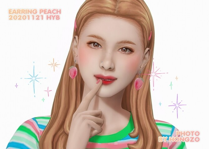 PEACH EARRINGS at Hayanbom image 3074 670x479 Sims 4 Updates