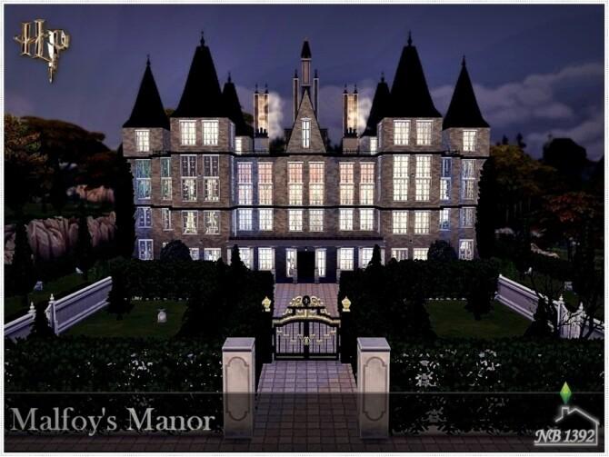 Sims 4 Malfoys Manor by nobody1392 at TSR