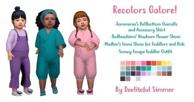 Sims 4 Recolors Galore at Deeliteful Simmer