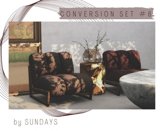 Sims 4 MORE RUSTIC & MORE COZY SET at Sundays Sims