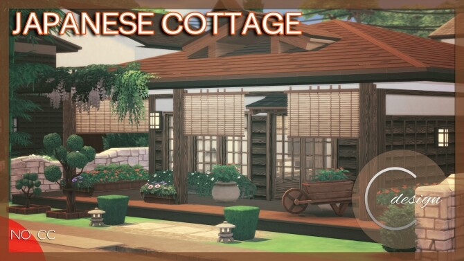 Sims 4 Japanese Cottage at Cross Design