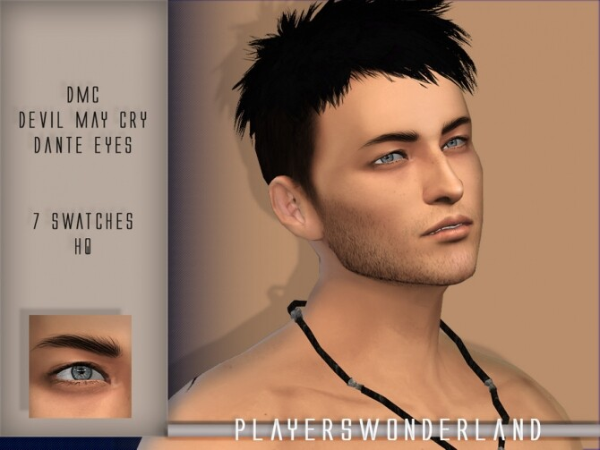 Sims 4 Devil May Cry Dante Eyes by PlayersWonderland at TSR