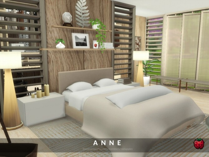 Sims 4 Anne bedroom by melapples at TSR