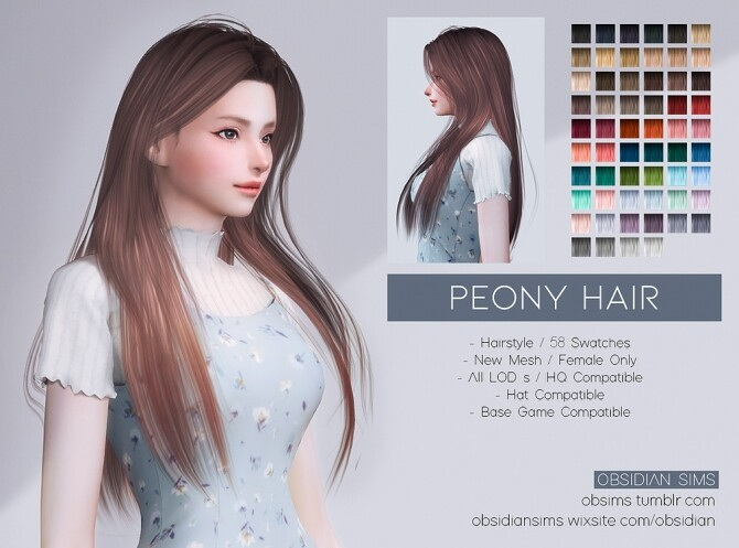 PEONY HAIR at Obsidian Sims image 3243 670x497 Sims 4 Updates