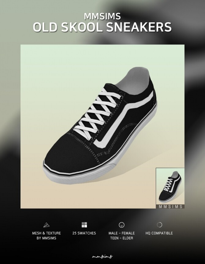 Old Skool Sneakers at MMSIMS image 325 670x863 Sims 4 Updates