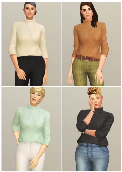 Sims 4 Basic Sweater III at Rusty Nail