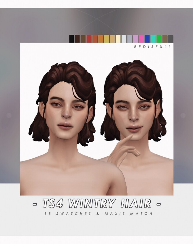 Sims 4 FM Wintry hair at Bedisfull – iridescent