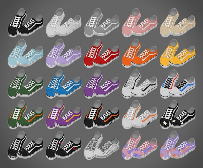 Old Skool Sneakers at MMSIMS image 329 670x555 Sims 4 Updates