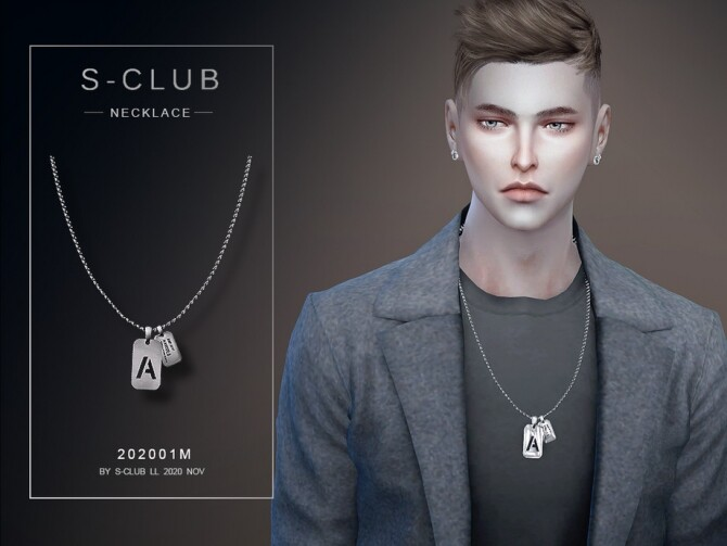 Military necklace 202001 M by S Club LL at TSR image 3327 670x503 Sims 4 Updates