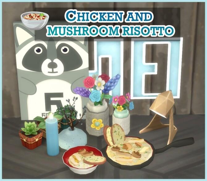 Sims 4 CHICKEN AND MUSHROOM RISOTTO at Icemunmun