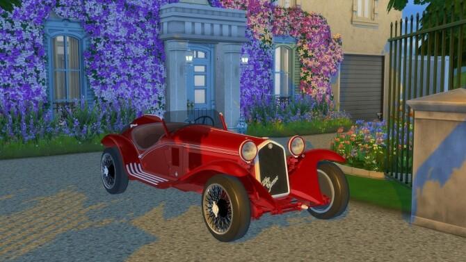 Sims 4 Alfa Romeo 8C 2300 Spider at LorySims
