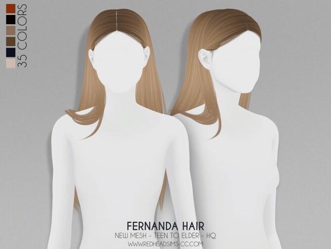 FERNANDA HAIR + KIDS AND TODDLER VERSION at REDHEADSIMS image 3342 670x503 Sims 4 Updates