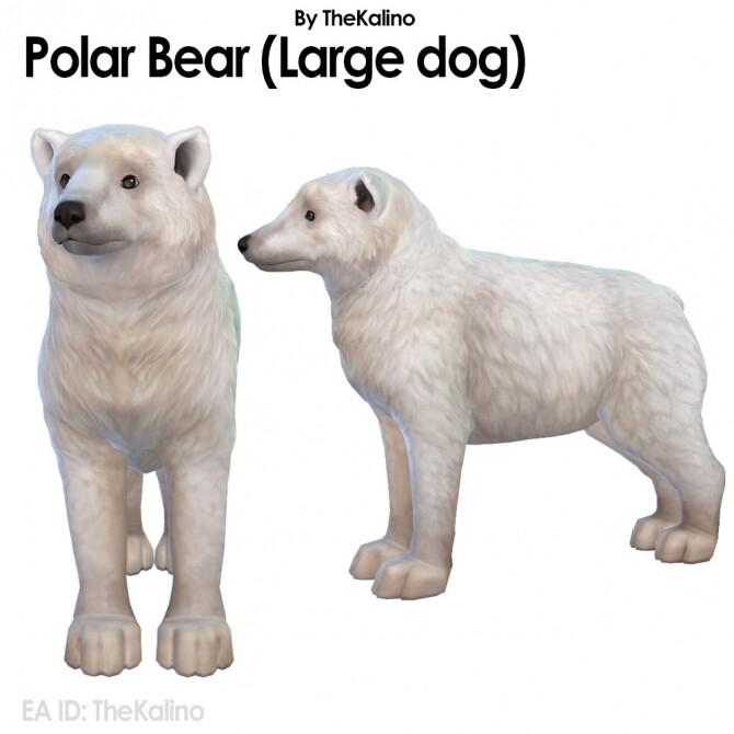 Sims 4 Polar Bear & Arctic Fox at Kalino