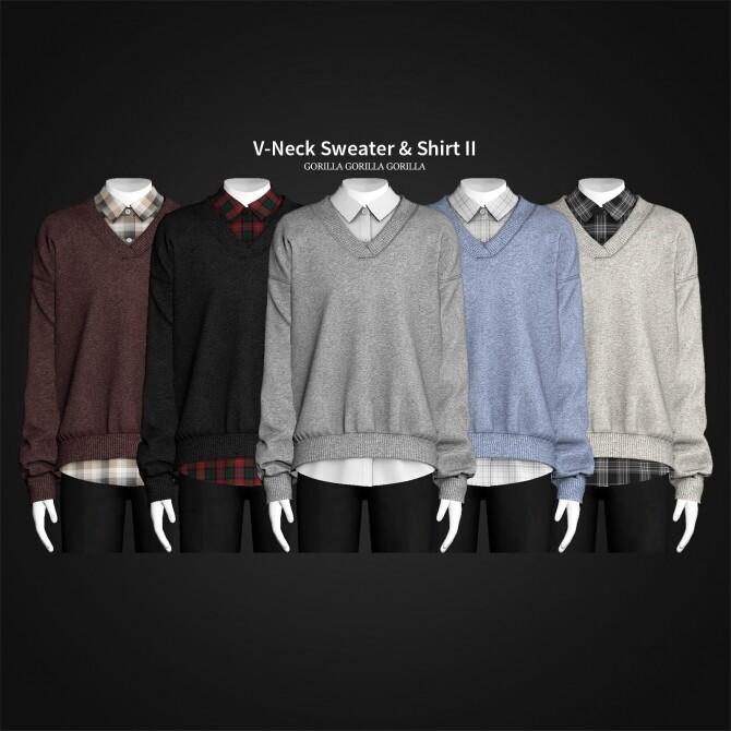 V Neck Sweater & Shirt II at Gorilla image 3562 670x670 Sims 4 Updates