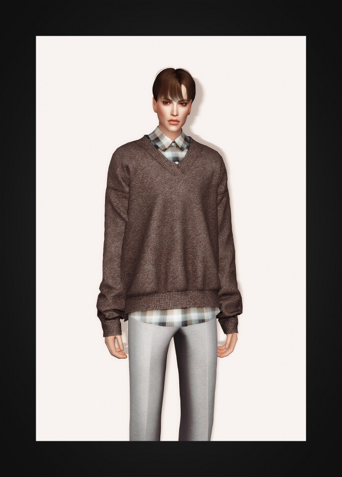 V Neck Sweater & Shirt II at Gorilla image 3581 670x935 Sims 4 Updates