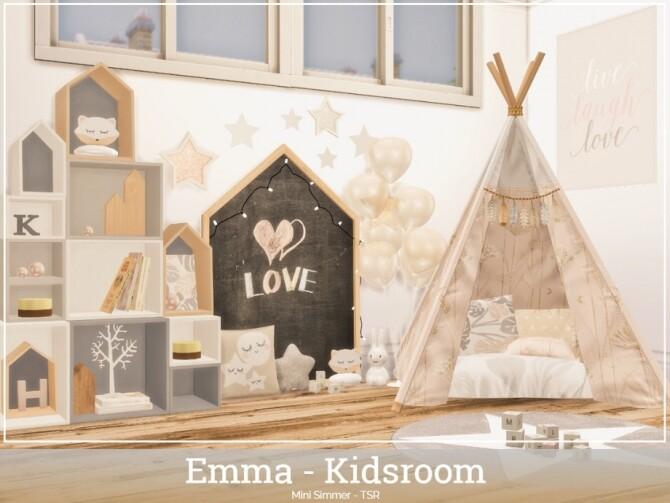 Sims 4 Emma Kidsroom by Mini Simmer at TSR