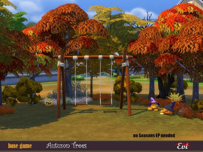 Sims 4 Autumn trees by evi at TSR