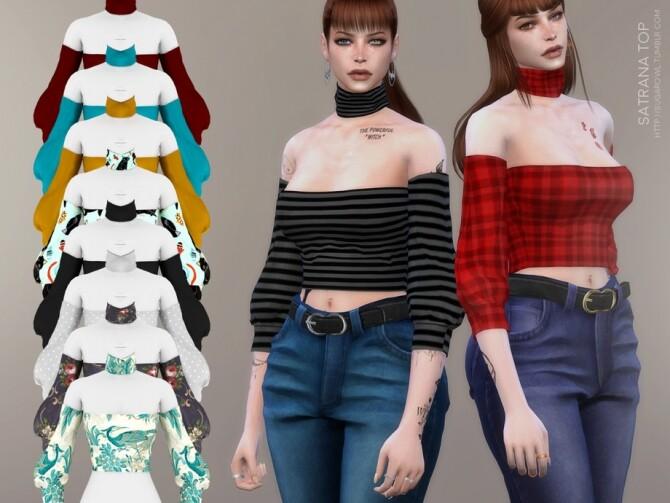 Sims 4 Satrana top by sugar owl at TSR