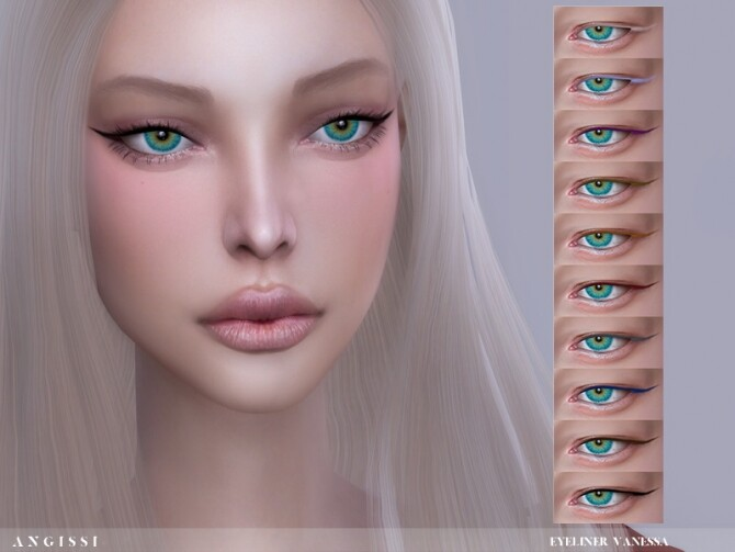 Sims 4 Vanessa Eyeliner by ANGISSI at TSR