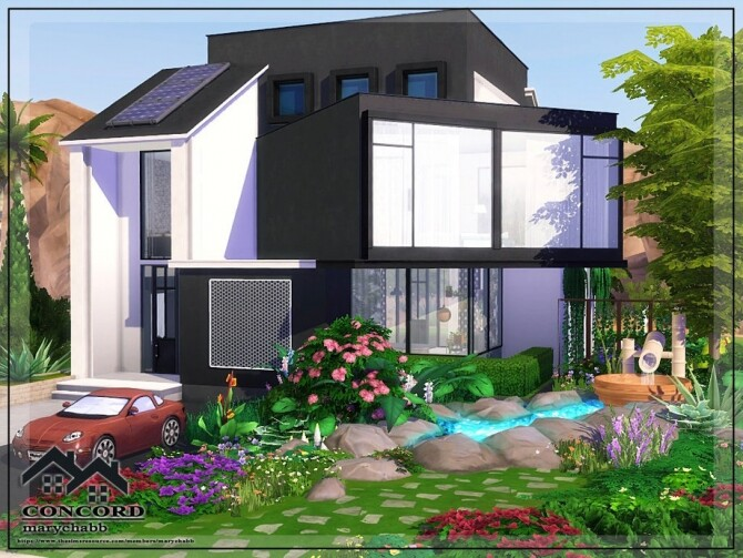 Sims 4 CONCORD home by marychabb at TSR