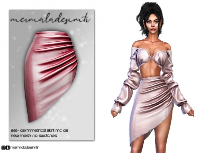 Asymmetrical Skirt MC105by mermaladesimtr