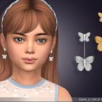 Papilio Drop Earrings For Kids by feyona