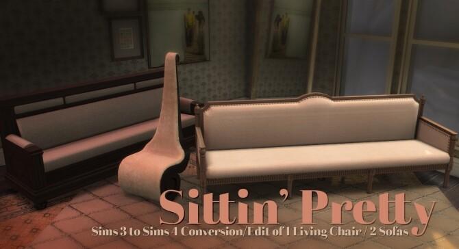 Sims 4 Velvet Goldmine mini set at b5Studio