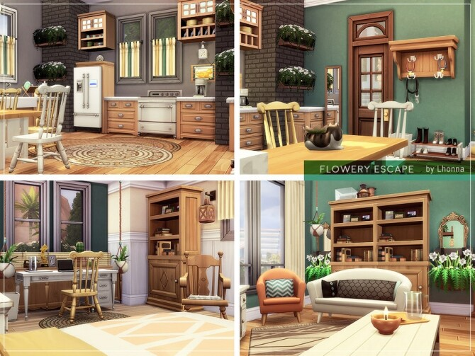 Sims 4 Flowery Escape Home by Lhonna at TSR