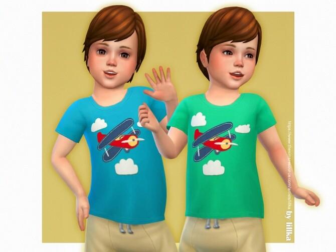 Sims 4 Airplane T shirt by lillka at TSR