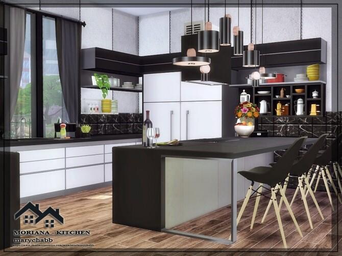 Sims 4 MORIANA Kitchen by marychabb at TSR