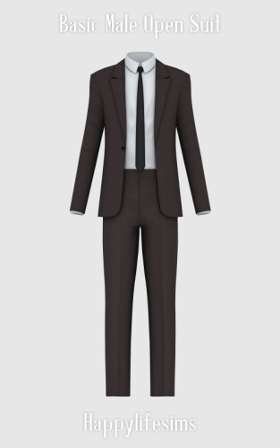 Basic Male Open Suit