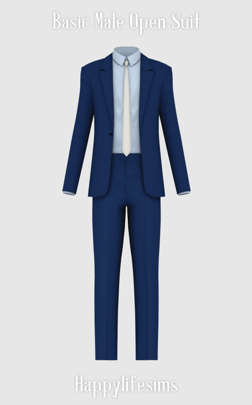 Sims 4 Basic Male Open Suit at Happy Life Sims