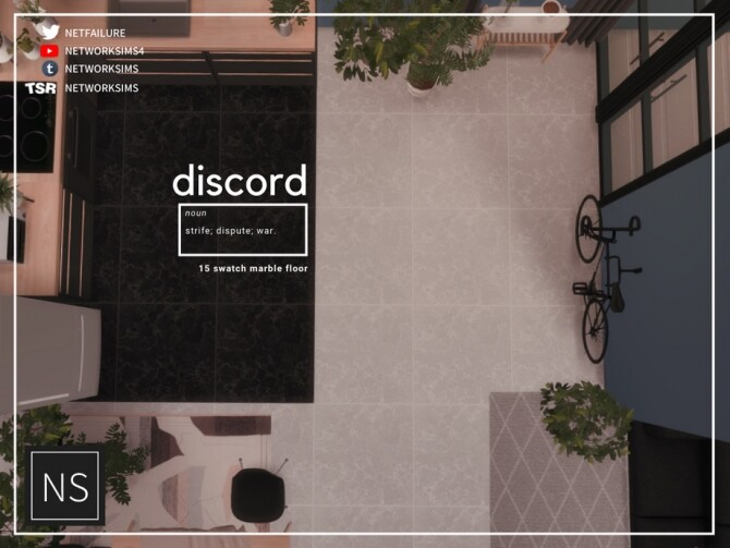 Sims 4 Discord Marble Floor by Networksims at TSR