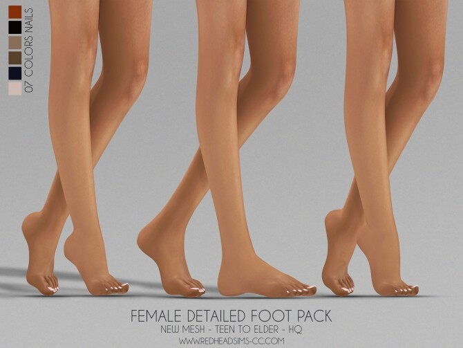 FEMALE DETAILED FOOT PACK at REDHEADSIMS image 4191 670x503 Sims 4 Updates
