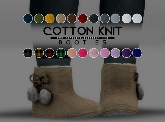 Sims 4 Cotton Knit Booties at Onyx Sims