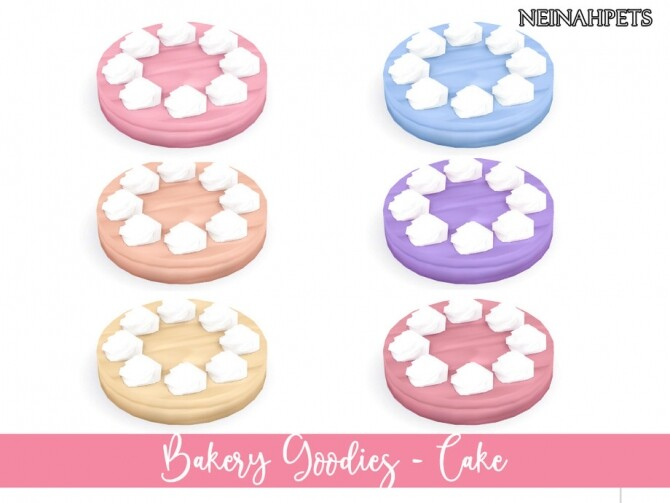 Sims 4 Bakery Goodies Decor Collection by neinahpets at TSR