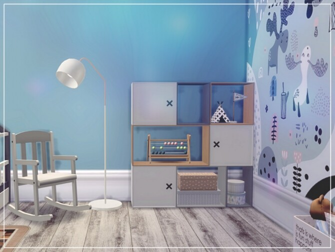 Sims 4 Blue Kids ROOM by Summerr Plays at TSR