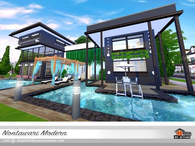 Nontawari Modern Villa by autaki at TSR image 443 670x503 Sims 4 Updates
