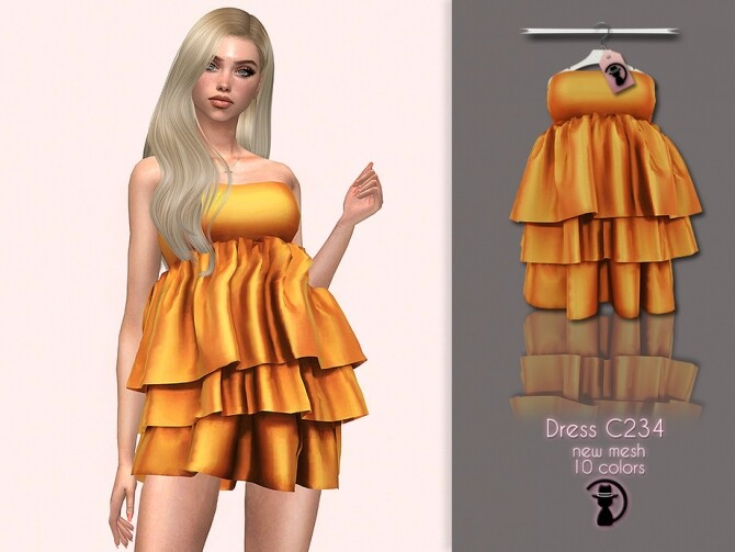 Sims 4 Dress C234 by turksimmer at TSR