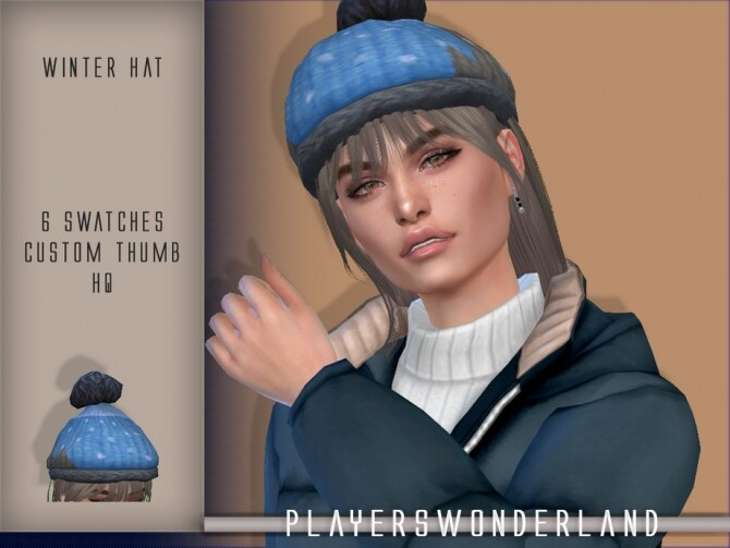 Winter Hat by PlayersWonderland at TSR image 4516 670x503 Sims 4 Updates