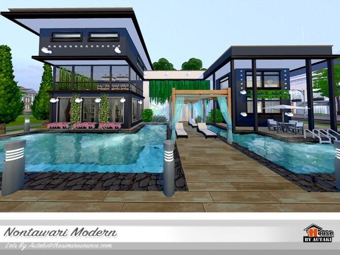 Nontawari Modern Villa by autaki at TSR image 453 670x503 Sims 4 Updates