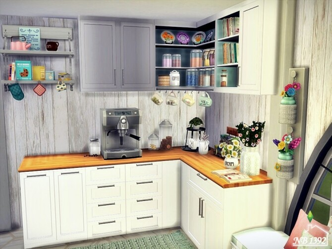 Sims 4 Bright Kitchen by nobody1392 at TSR