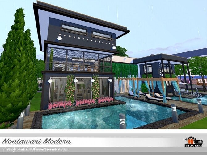 Nontawari Modern Villa by autaki at TSR image 463 670x503 Sims 4 Updates