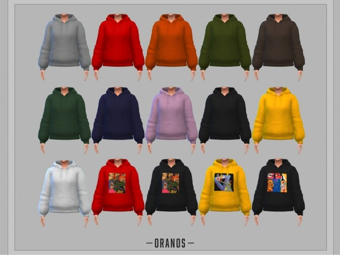Sims 4 Oversized Hoodie by OranosTR at TSR