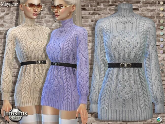 Mayilene wool short dress by  jomsims at TSR image 4811 670x503 Sims 4 Updates