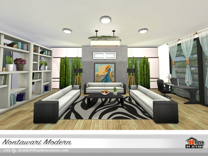 Nontawari Modern Villa by autaki at TSR image 483 670x503 Sims 4 Updates