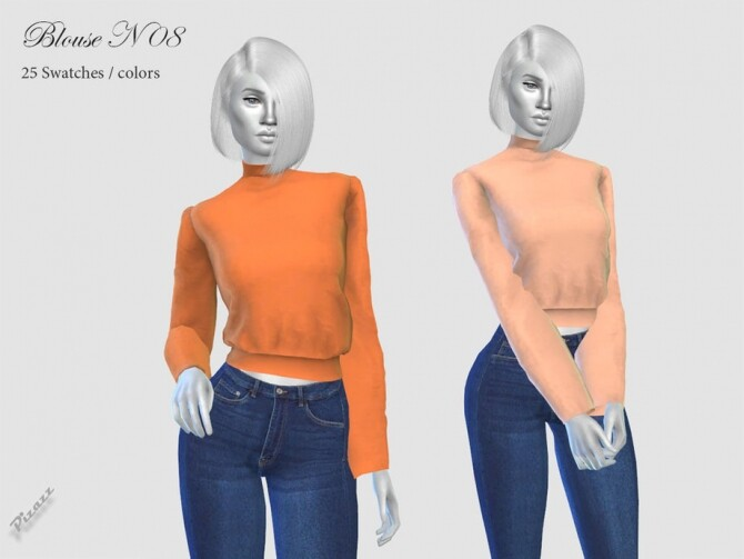 Sims 4 Ladies Blouse N08 by pizazz at TSR