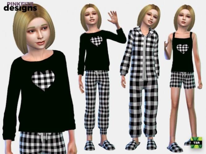 Junior Plaid Sleepwear Set by Pinkfizzzzz