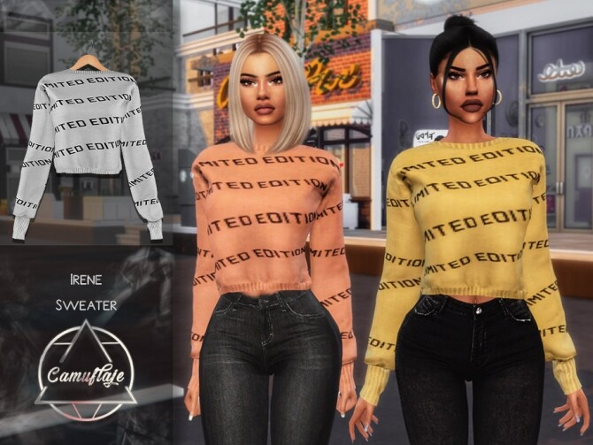 Sims 4 Irene Sweater by Camuflaje at TSR