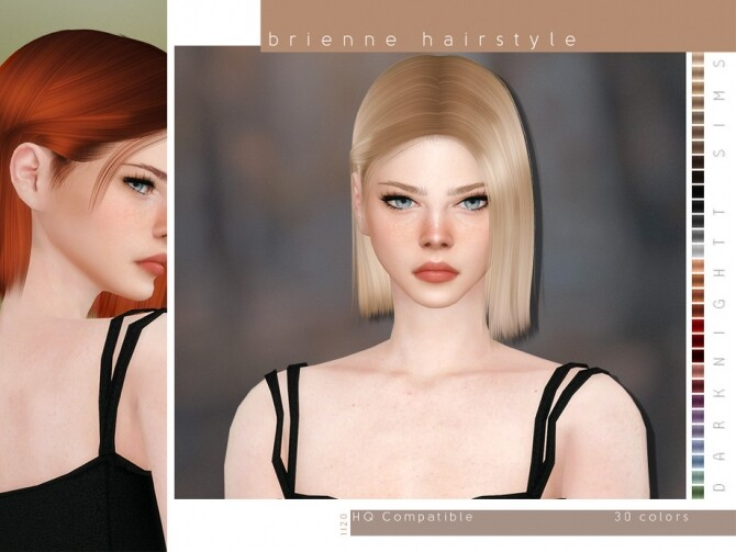 Sims 4 Brienne Hairstyle by DarkNighTt at TSR